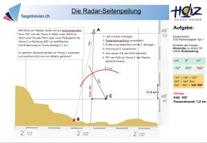Kartenaufgabe Typ 1 des CCS - Radar-Seitenpeilung
