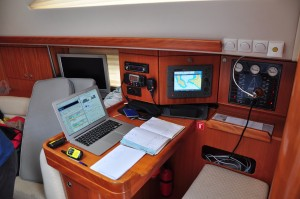 SRC-Schein erforderlich: Der Skipper-Platz einer Charteryacht in Kroatien