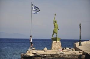 Hafen Gaios auf Paxos, Statue