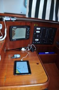 Das iPad auf der Segelyacht