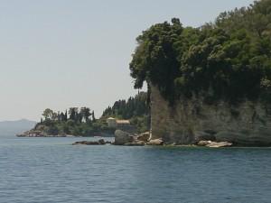 Ein Blick auf die Küste von Korfu