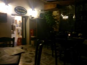 Die Taverne zur Laterne in Korfu Stadt.