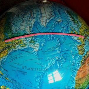 Orthodrome auf dem Globus