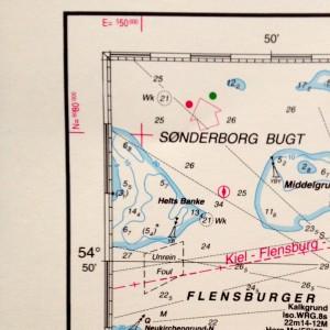 Die Positionen an der Seekarte.
