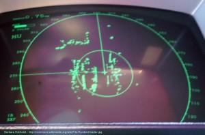 Radar auf einem Schiff