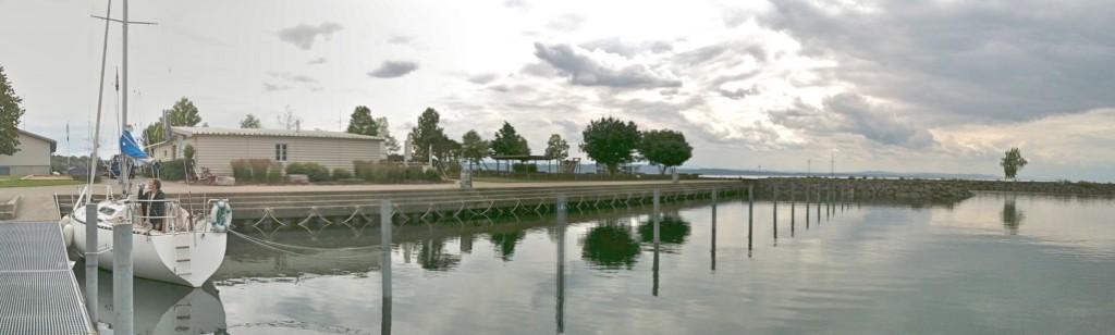 Die Gästeplätze im Hafen von St. Blaise