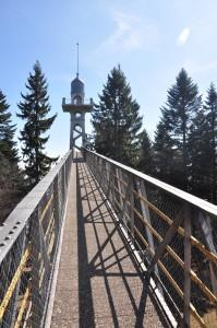 Der Zugang zum Aussichtsturm auf dem Chaumont