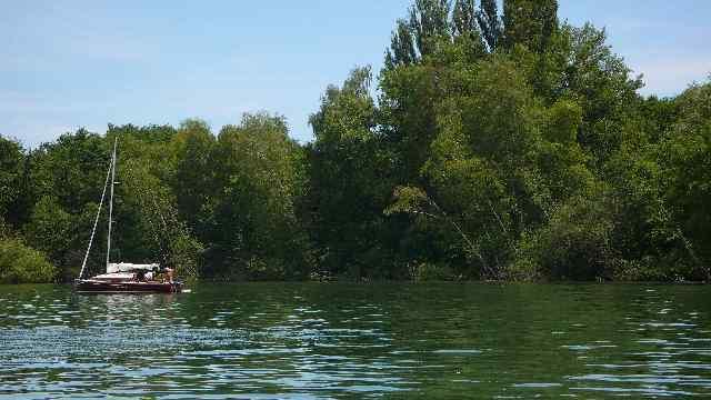 Bucht bei Estavayer le Lac