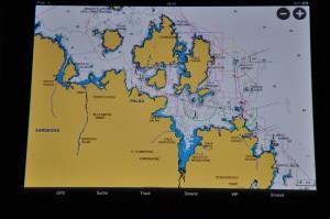 Die Bucht von Cannigione auf dem iPad