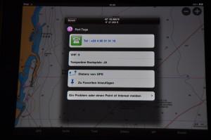Ansteuerung Bastia mit Hafeninformationen im iPad