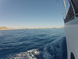 Unsere Elan 384 MokMok beim Umrunden der Insel Kornat
