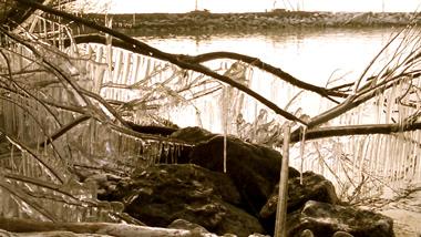 Eiszapfen am Neuenburgersee