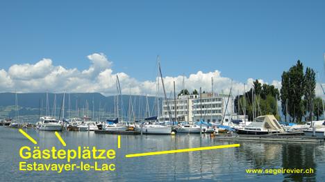 Gästeplätze in Estavayer für grössere Yachten