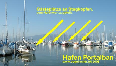 Portalban im Hafen