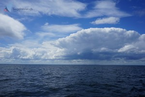 Wolken über dem kleinen Belt.