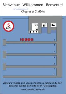 Hafenplan und Gästeplätze Cheyres