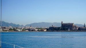 Aus der Bucht von Bord: Blick auf Palma