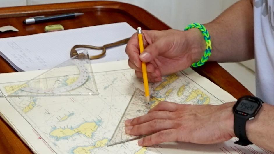Passageplanung beim Hochseeschein Basistörn