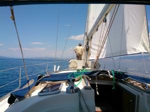 Unterwegs mit der Charteryacht. Mit Co-Skipper ein besseres Gefühl.