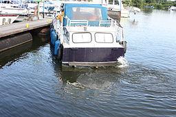 Radeffekt beim Motorboot