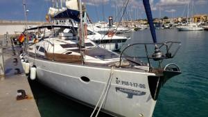Charteryacht von Alboran Charter im Hafen von Sa Rapita auf Mallorca beim privaten Sommertörn 2014